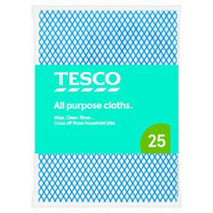 Picture of Tesco All Purpose Cloths 25 Pack