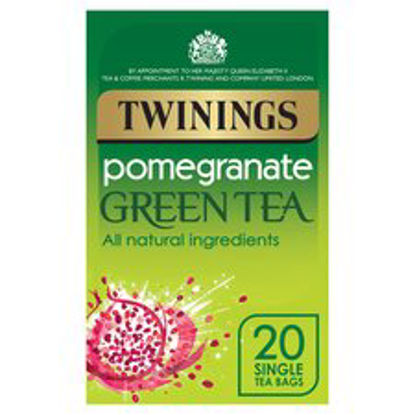 Picture of Twinings Green Tea & Pomegranate 20'S 40G