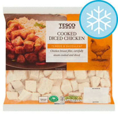 Picture of Tesco Cooked Diced Chicken 340G