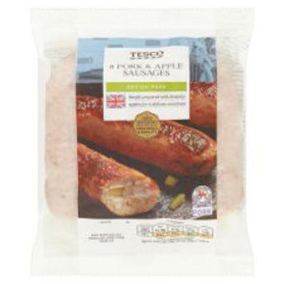 Picture of Tesco 8 British Pork & Apple Sausages 454G