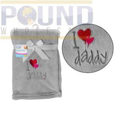 Picture of BABY BLANKET I LOVE DADDY 75X100CM