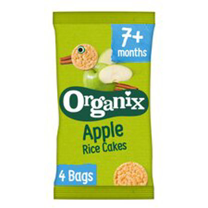 Picture of Organix Apple Rice Cakes Multipack 4X28g