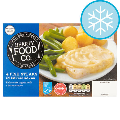 Picture of Hearty Food Co 4 Fish Steaks In Butter Sauce 552G