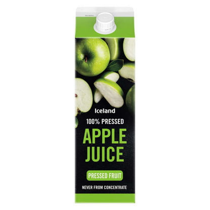 Picture of Iceland 100% Pressed Apple Juice Never from Concentrate 1l