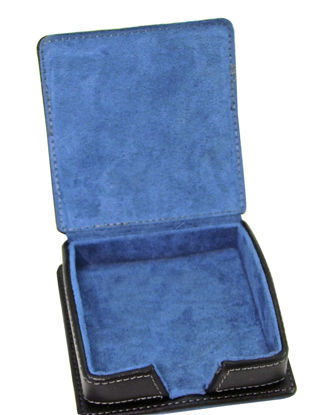 Picture of Black Faux Leather Note Holder