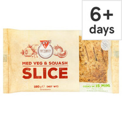 Picture of Fry's Meat Free Medium Vegetable & Squash Slice 180G