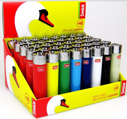 Picture of Swan Refillable/Reflintable Lighters - Assorted Colours