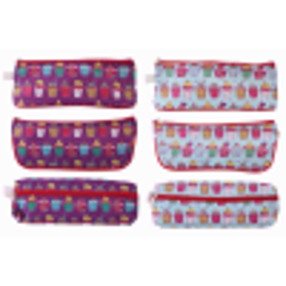 """Picture of Just stationery """"Cup Cakes Design"""" Pencil Case"""