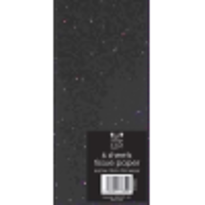 Picture of TISSUE PAPER GLITTER  BLACK 6SHEETS