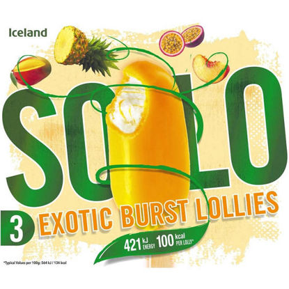 Picture of Iceland 3 Solo Exotic Burst Lollies 300ml