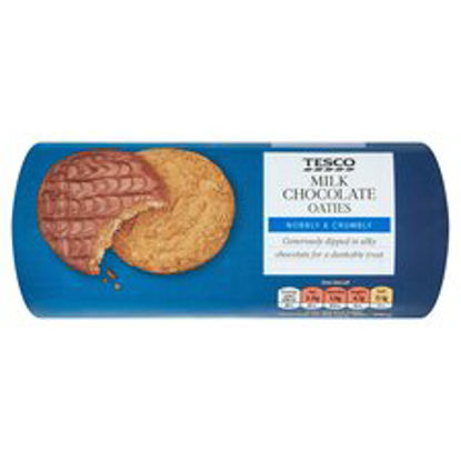 Picture of Tesco Chocolate Oaties Biscuits 300G