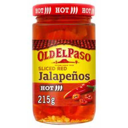 Picture of Old El Paso Sliced Red Jalapenos 215G