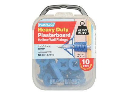 Picture of Plasplug Hcf110 Heavy Duty Plasterboard Plugs (10)