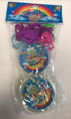 Picture of DIY Royal Play Toy - Play Dough with Plastic Shapes - Colours & Shapes May Vary - Packaging Defected