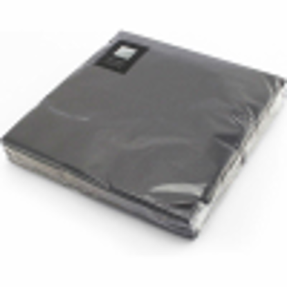 Picture of PPS 3PLY 20 NAPKINS 33CM BLACK