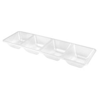 Picture of Clear Plastic 4 Dip Dish