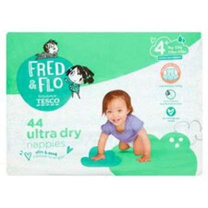 Picture of Fred & Flo 44 Ultra Dry Nappies Size 4+