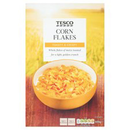 Picture of Tesco Cornflakes Cereal 500G