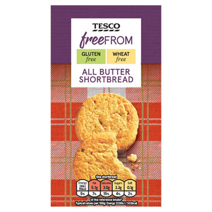 Picture of Tesco Free From Shortbread 160G