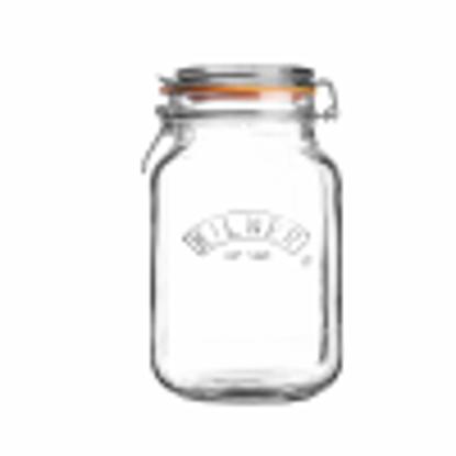Picture of Kilner Square Clip Top Jar 1.5ltr | Kilner Preservation Jar, Kilner Storage Jar, Kilner Jam Jar with Cliptop Lid