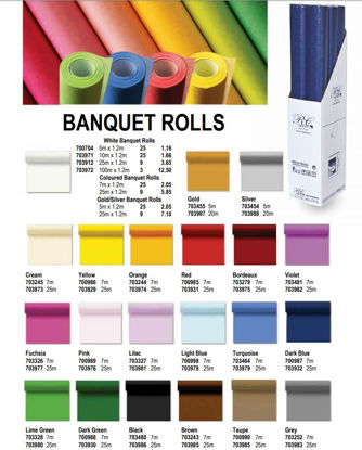 Picture of RC Banquet Roll Table Cloth - Yellow - 7 x 1.2m