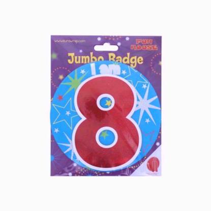 Picture of Age 8 Boy Birthday Badge 8th Birthday Badge Jumbo Badge Large Big Badge Fun house