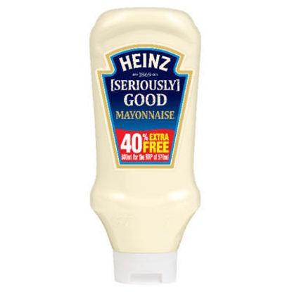 Picture of Heinz Seriously Good Mayonnaise 540g plus 40% Extra Free