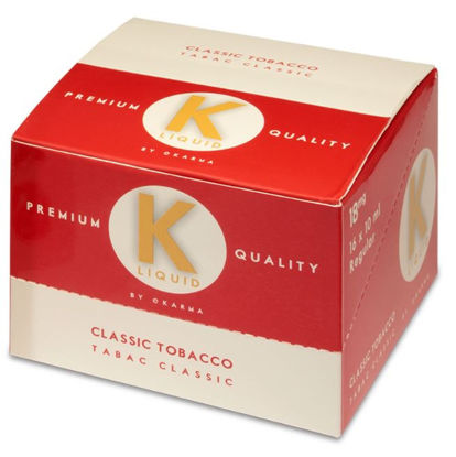 Picture of K Liquid Premium Quality E-Liquid - Classic Tobacco - 18mg - 10ml