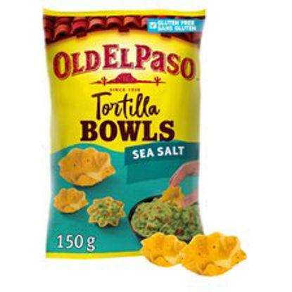 Picture of Old El Paso Sea Salt Tortilla Chip Bowls 150G