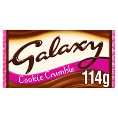 Picture of Galaxy Cookie Crumble Chocolate Bar 114G