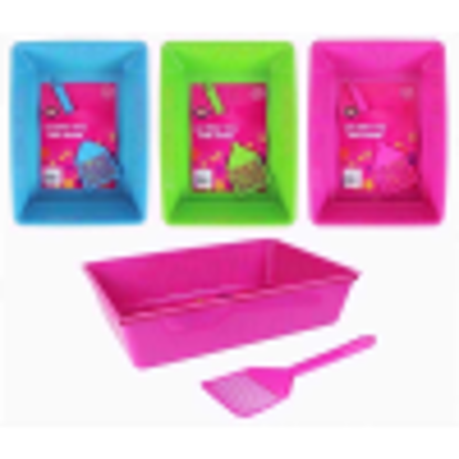 Picture of WORLD OF PETS CAT LITTER TRAY WITH SCOOP