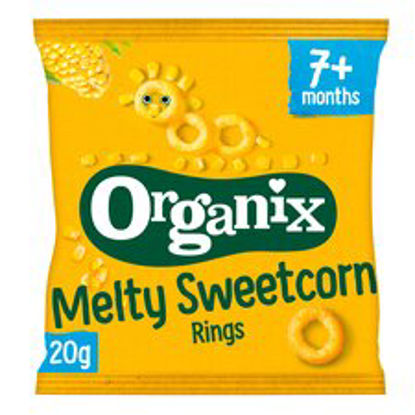 Picture of Organix Melty Sweetcorn Rings 20G