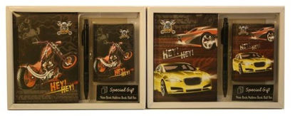 Picture of Racing Hey Hey Special Gift Set - Note Book/Address Book/Ballpoint Pen - 2 Designs And Colours