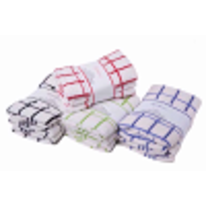 Picture of Heavyweight Cotton Terry Tea Towels (3 pack) in Red by Textiles Direct
