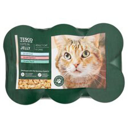 Picture of Tesco Fish Selection Cat Food 6 X 400G