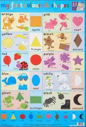 Picture of My First Colours & Shapes Wall Chart / Poster - 76cm x 52cm