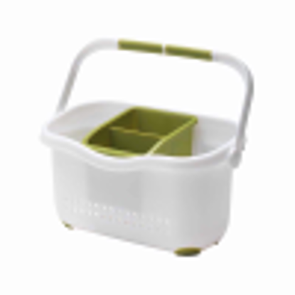 Picture of Addis Sink Caddy, White/ Grass Green