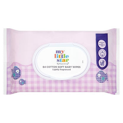 Picture of My Little Star Fragrance Baby Wipes X64