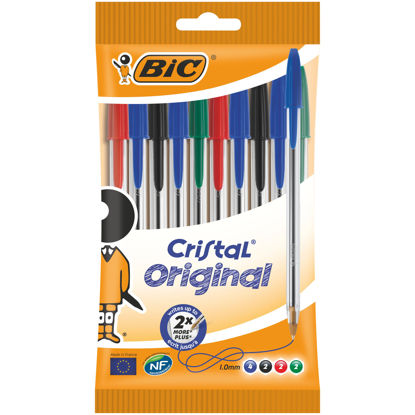 Picture of Bic Cristal Ballpoint Pen Medium Assorted (Pack of 10) 830865