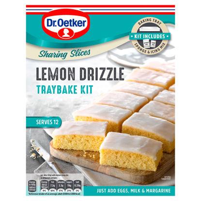 Picture of Dr Oetker Lemon Drizzle Traybake Kit 375G