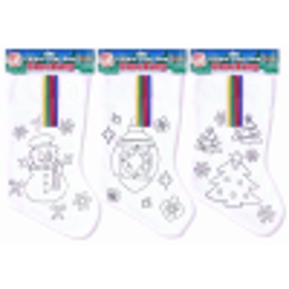 Picture of PLAYWRITE STOCKING FELT CHRISTMAS COL Y OWN