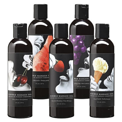 Picture of Earthly Body Edible Massage Oil-Cherry
