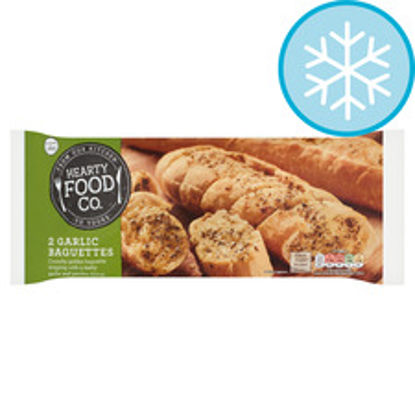 Picture of Hearty Food Co. 2 Garlic Baguettes 338G