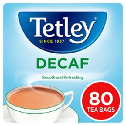 Picture of Tetley Decaffeinated 80 Teabags 250G