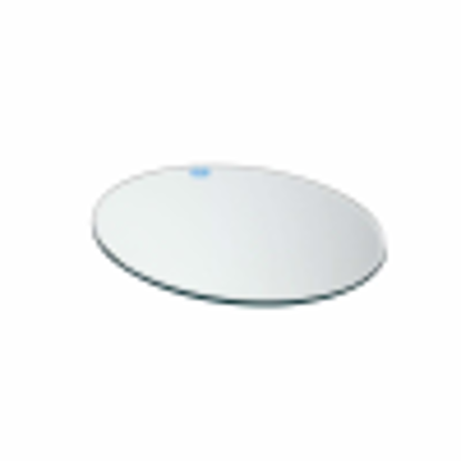 Picture of 25cm Clear Round Mirrored Candle Plate