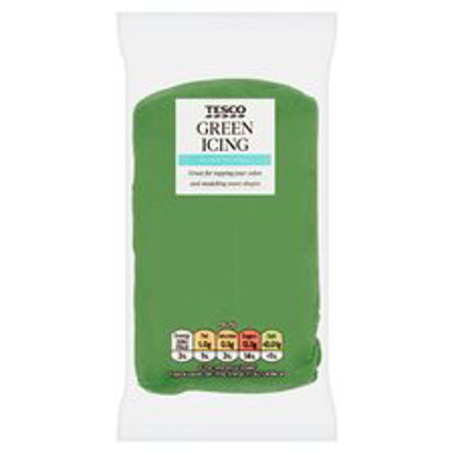 Picture of Tesco Ready To Roll Icing Green 250G