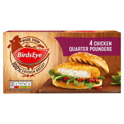 Picture of Birds Eye 4 Chicken Quarter Pounders 454G