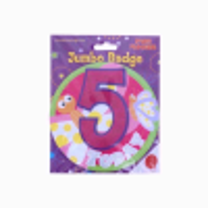 Picture of Age 5 Boy Giant Birthday Badge