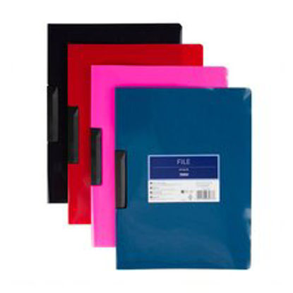 Picture of Tesco A4 Clip File Assorted