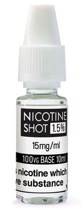 Picture of NS Nicotine Shot - 15Mg - 100% VG - 10Ml